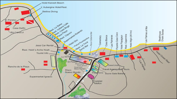 Map of Las Terrenas